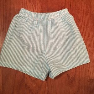 Bailey Boys seersucker swim trunks